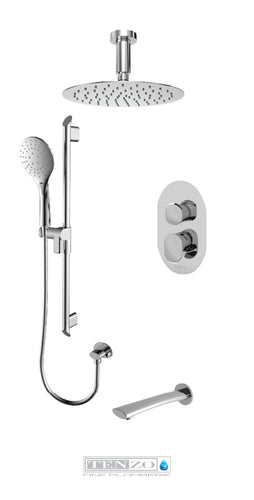 FLUVIA COLLECTION Shower kit, 3 functions FLPB33-511315-CR