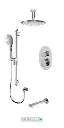 FLUVIA COLLECTION Shower kit, 3 functions FLPB33-511345-CR