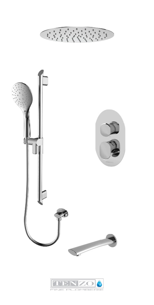 FLUVIA COLLECTION Shower kit, 3 functions FLPB33-511635-CR