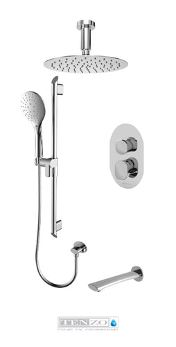 FLUVIA COLLECTION Shower kit, 3 functions FLPB33-513315-CR