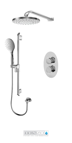 FLUVIA COLLECTION Shower kit, 2 functions thermostatic FLT32-20114-CR