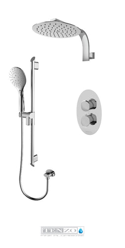 FLUVIA COLLECTION Shower kit, 2 functions thermostatic FLT32-20119-CR