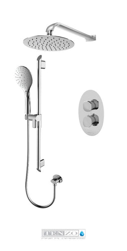 FLUVIA COLLECTION Shower kit, 2 functions thermostatic FLT32-20311-CR