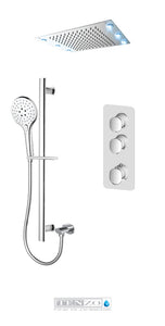 FLUVIA COLLECTION T-Box LED (6x) shower set, 2 functions thermostatic FLT42-21243-CR