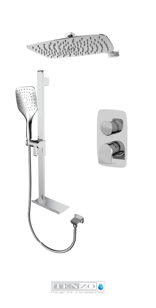 NUEVO COLLECTION T-Box shower set, 2 functions NUPB32-20310-CR
