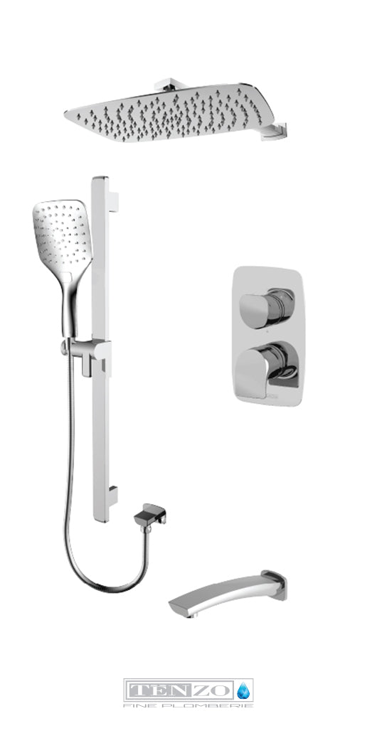 NUEVO COLLECTION Shower kit, 3 functions NUPB33-501115-CR