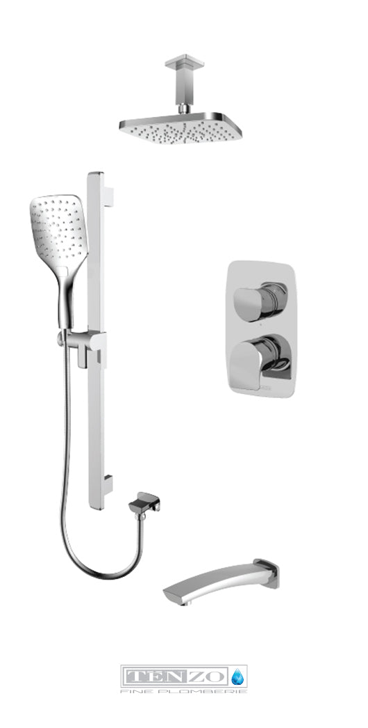 NUEVO COLLECTION Shower kit, 3 functions NUPB33-511345-CR