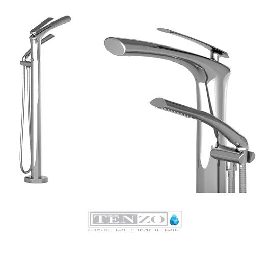 FLUVIA COLLECTION Freestanding Bath faucet FL51-CR
