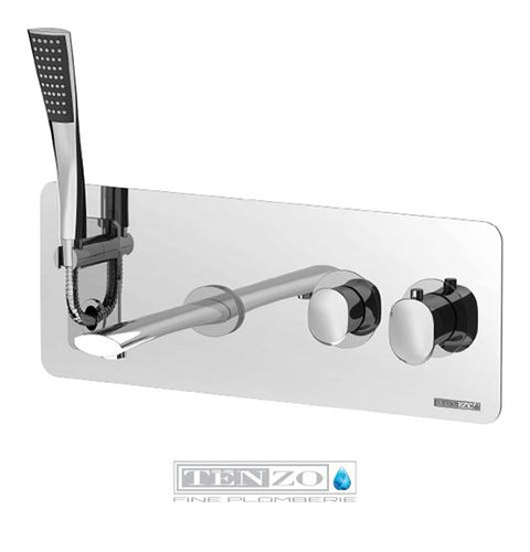 FLUVIA COLLECTION wall-mounted tub faucet retractable FL63-CR