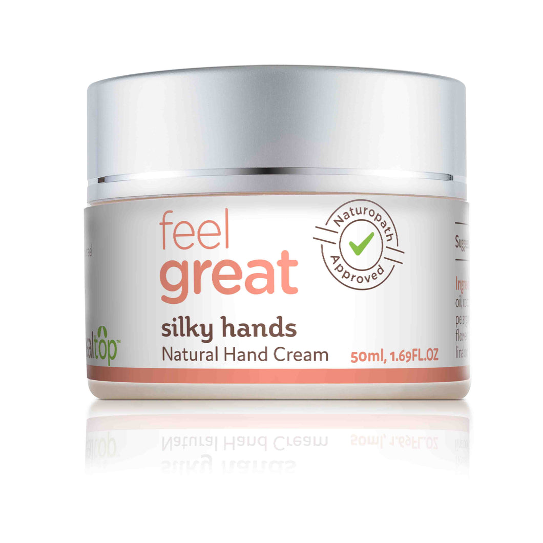 silky hands - all natural hand cream - Healtop