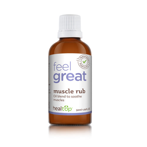 Muscle Rub - All Natural Oil Blend For Muscle Care - Healtop