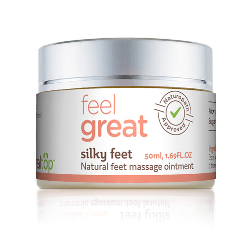 silky feet - natural feet massage ointment with 9 natural powerful ingredients