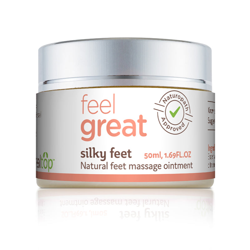silky feet - all natural feet massage ointment - Healtop