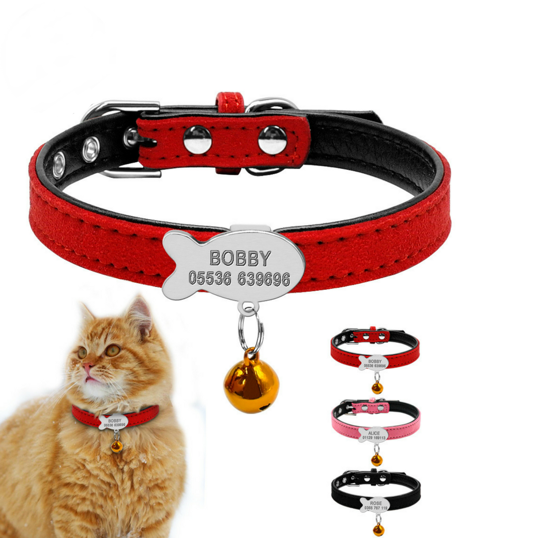 collier chat avec bandana