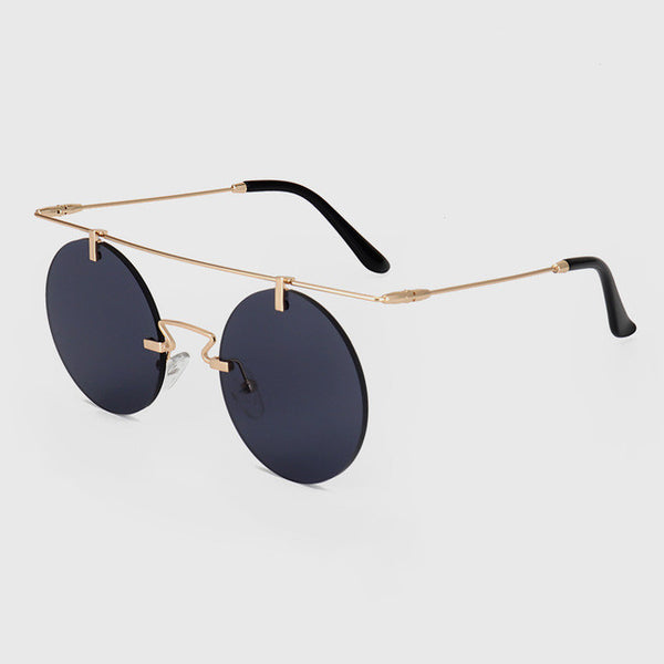 Summer Round  Rimless Shades Fashion Flat Top