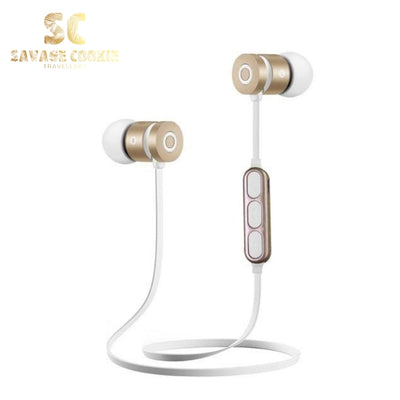 Metal Bluetooth Headphone Sweat Proof Magnetic Earpiece Stereo