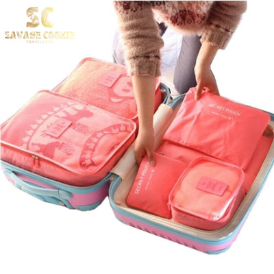 6 PCS Travel Organizer Bag Set For Clothes