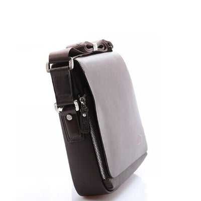 Men's Soft PU Shoulder Bag - Briefcase Business Bag (Brown)