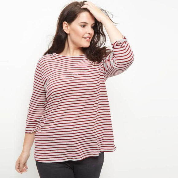 Red Stripe Loose T-shirt