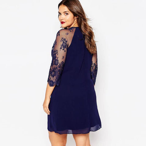 Vestidos Lace Embroidered Bodycon Dresses