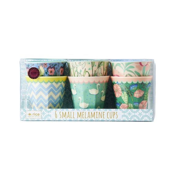 Medium Melamine Curved Cup in 6 Assorted Prints