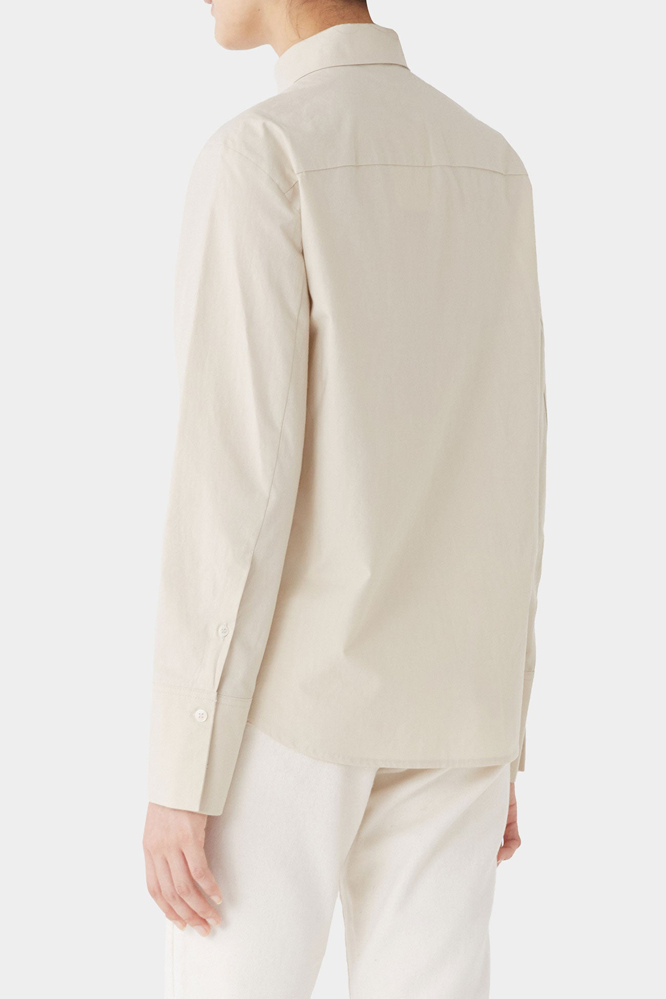 SAND MERCER LOOSE BUTTON SHIRT