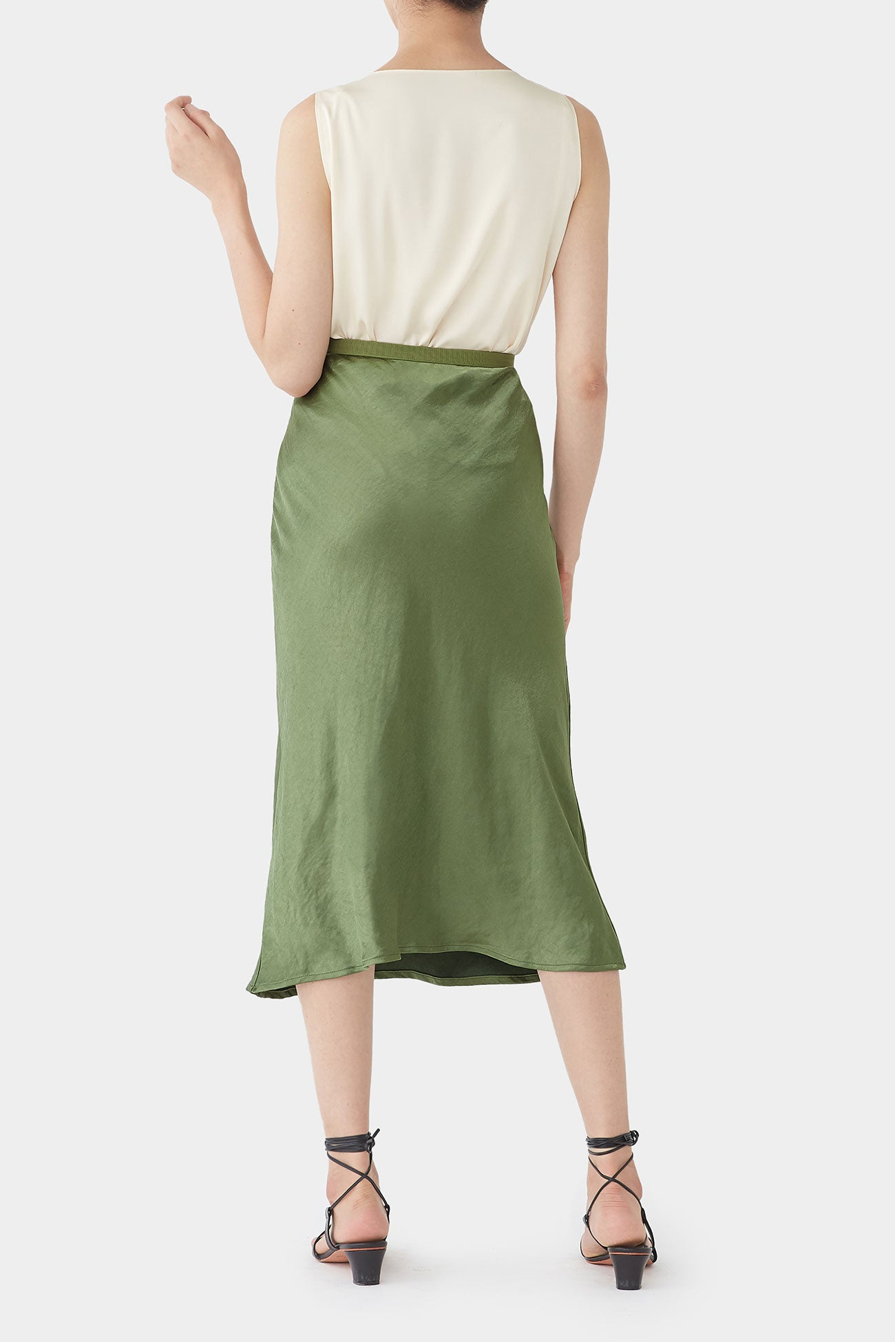 FOREST GEORGINA SATIN BANDING SKIRT