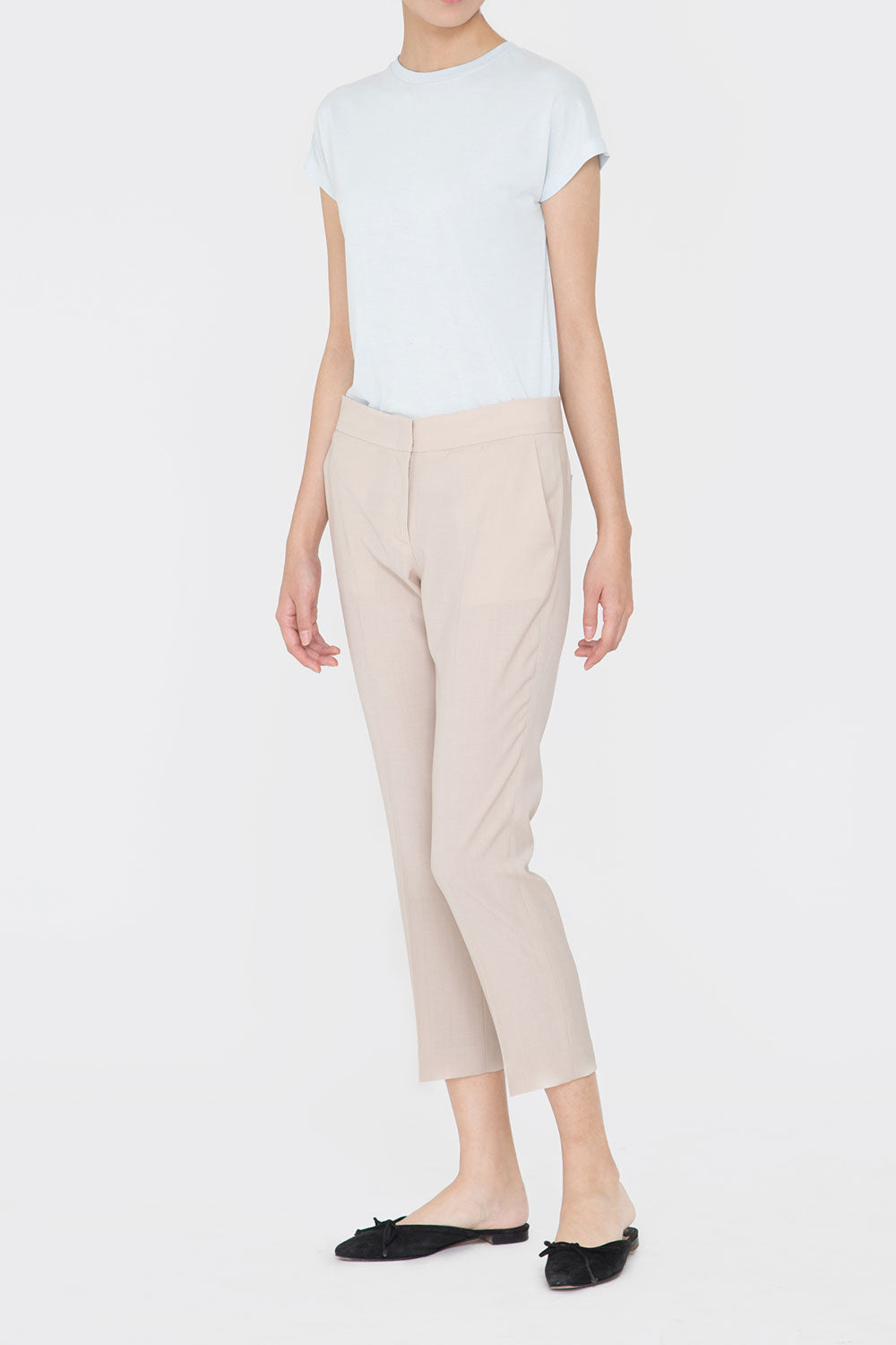 BEIGE JENNA TAILORED PANTS