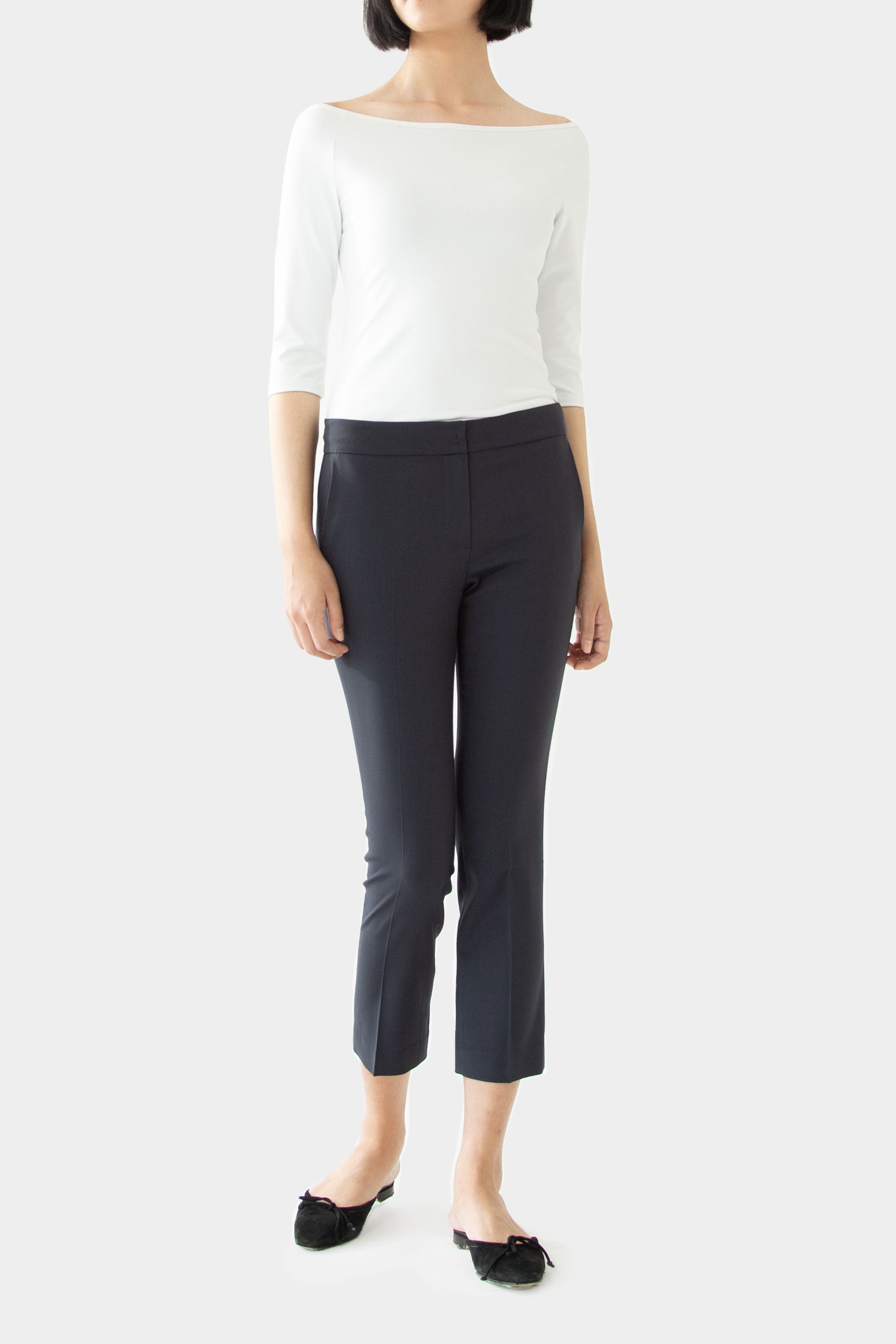 CHARCOAL JENNA TAILORED PANTS