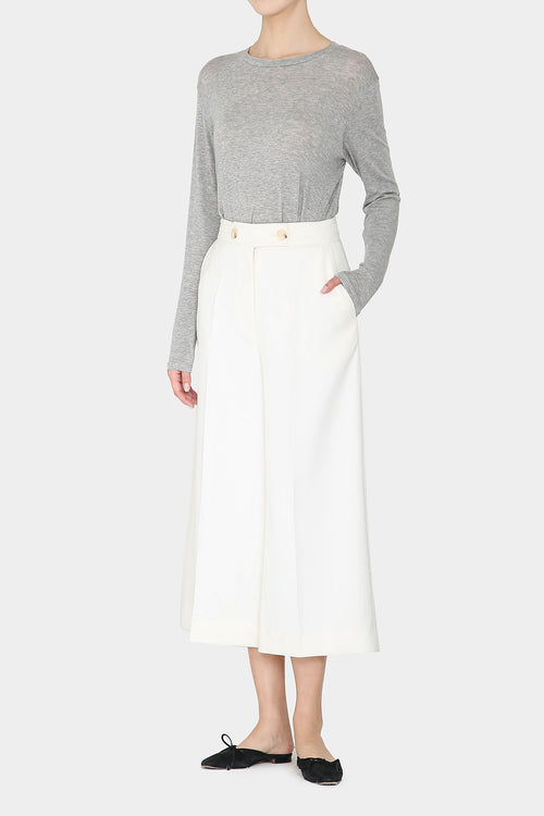 IVORY EVE WIDE PANTS