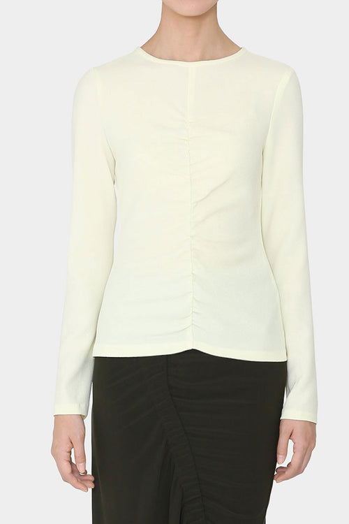 LEMON SIV FRONT GATHERED TOP