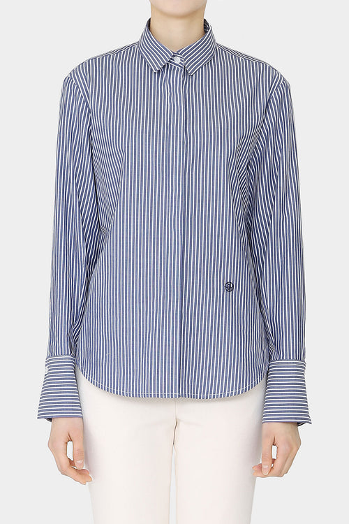 STRIPE MERCER LOOSE BUTTON SHIRT