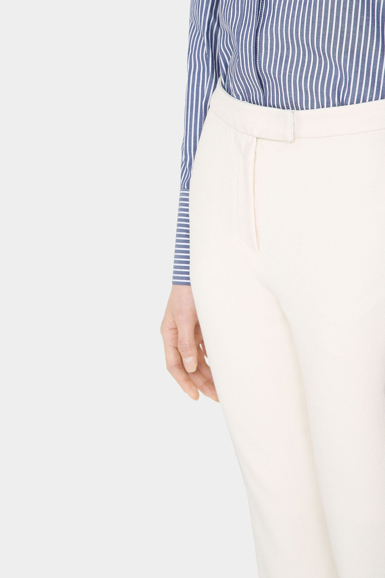 CREAM LANA KICK FLARE PANTS