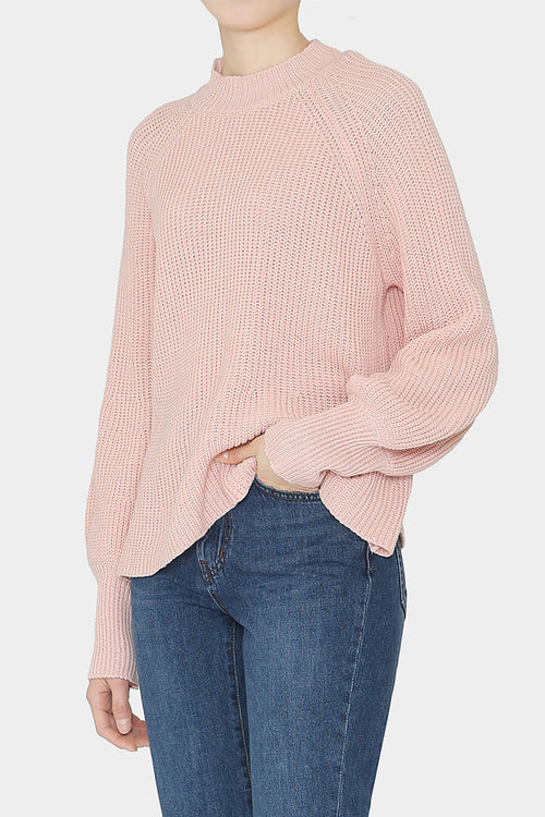 BLOSSOM LOLA COTTON POET SLEEVE SWEATER