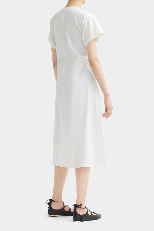 WHITE HELMA COTTON LONG DRESS