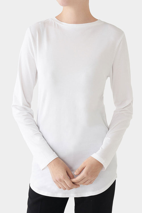 WHITE MARGOT PERFECT LONGSLEEVE T