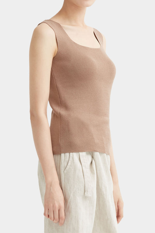 LATTE NOI SLEEVELESS KNIT