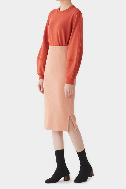 PEACH PION JERSEY SKIRT
