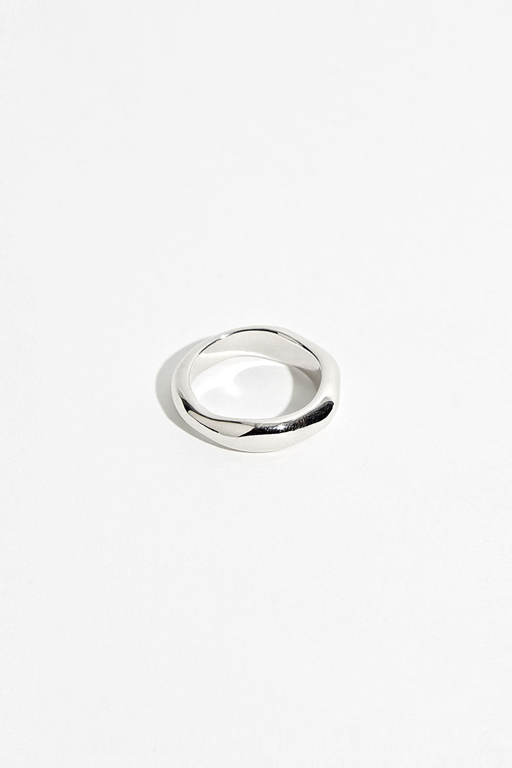 SILVER PAULINE STACK RING