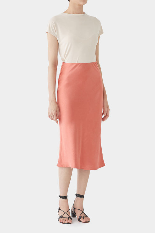CORAL GEORGINA SATIN BANDING SKIRT