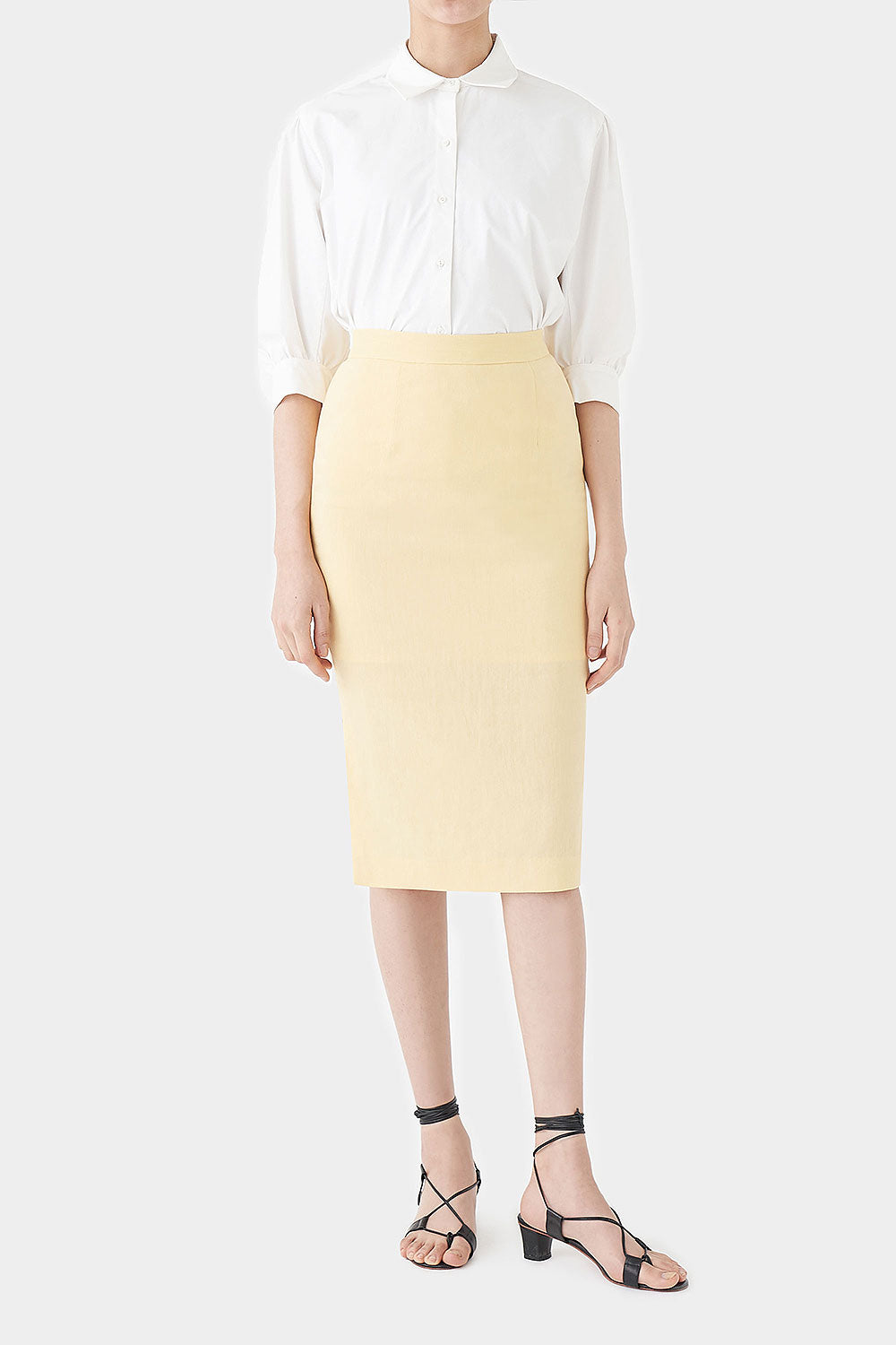 LEMON IRIS LINEN SKIRT