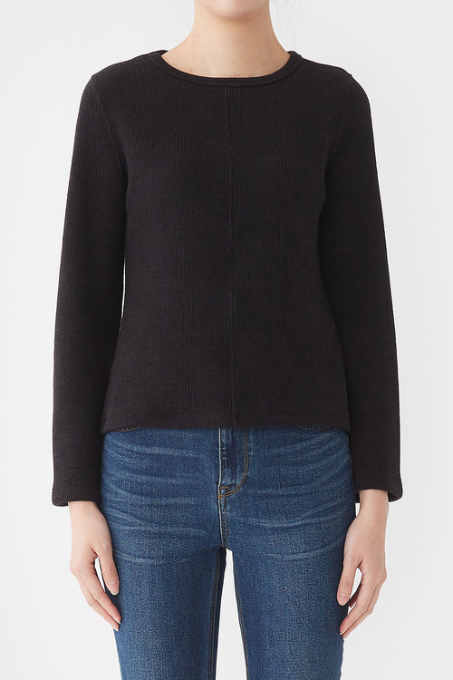 BLACK PION BELL-SLEEVE JERSEY TOP