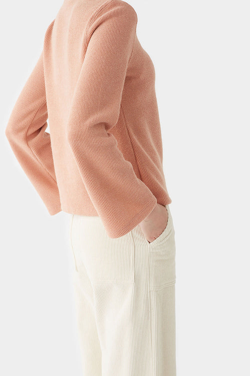 PEACH PION BELL-SLEEVE JERSEY TOP