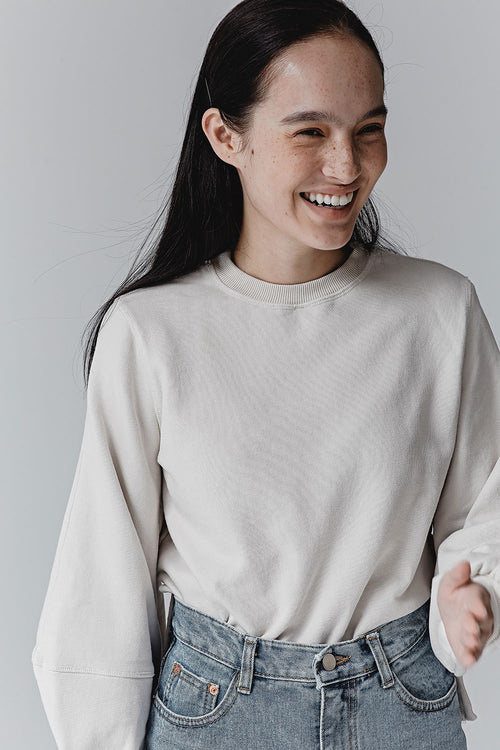 DOVE CELIA BALLOON SWEATSHIRT