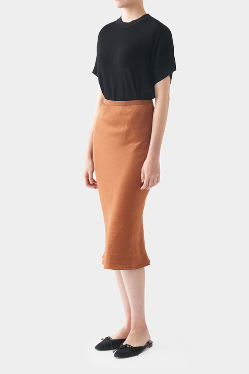 PECAN GEORGINA SATIN BANDING SKIRT