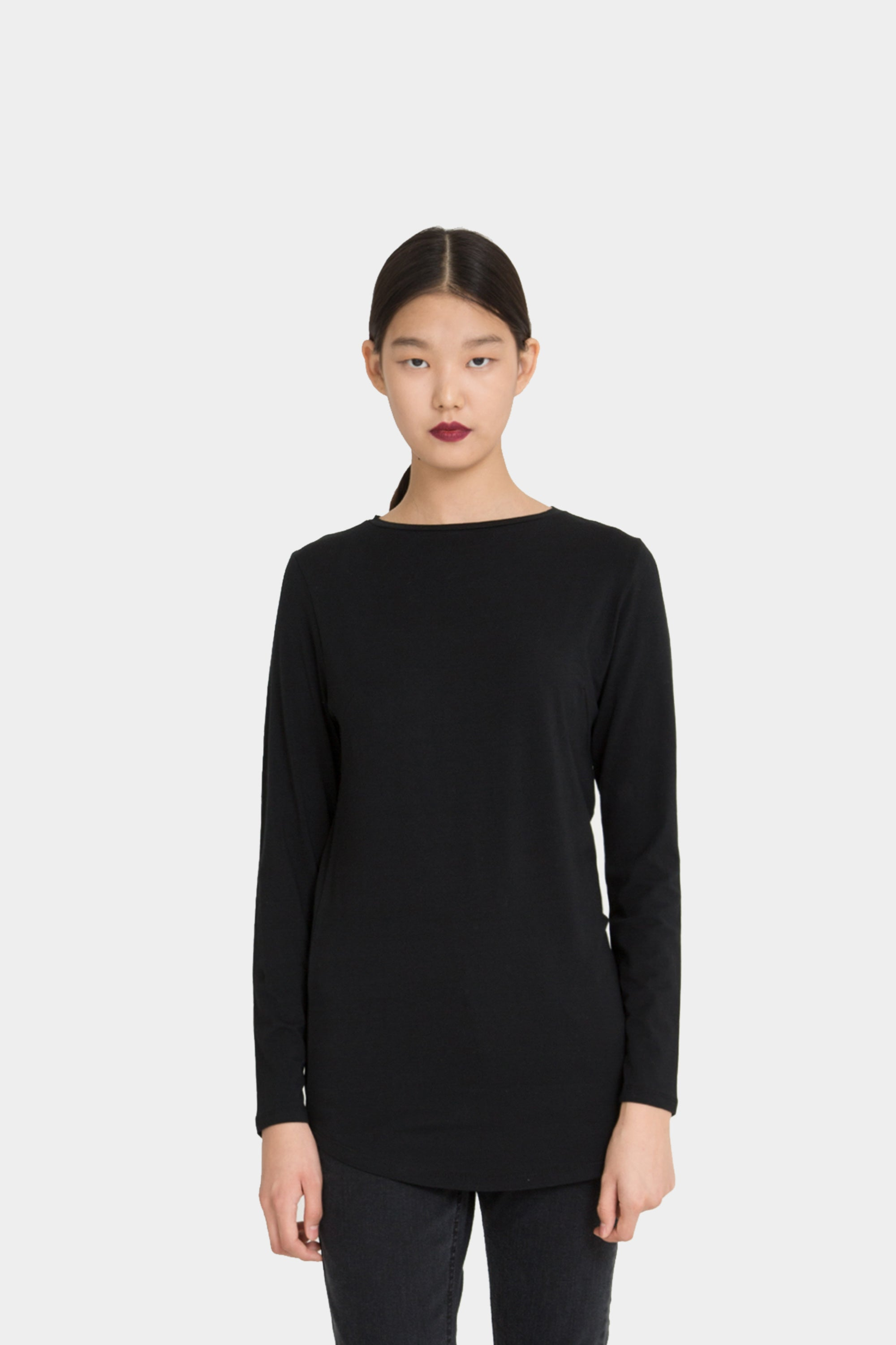 BLACK MARGOT PERFECT LONGSLEEVE T