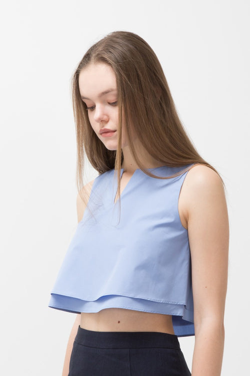 CLOUD WILMA RUFFLE TOP