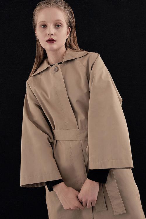 BEIGE MIA DAY TRENCH