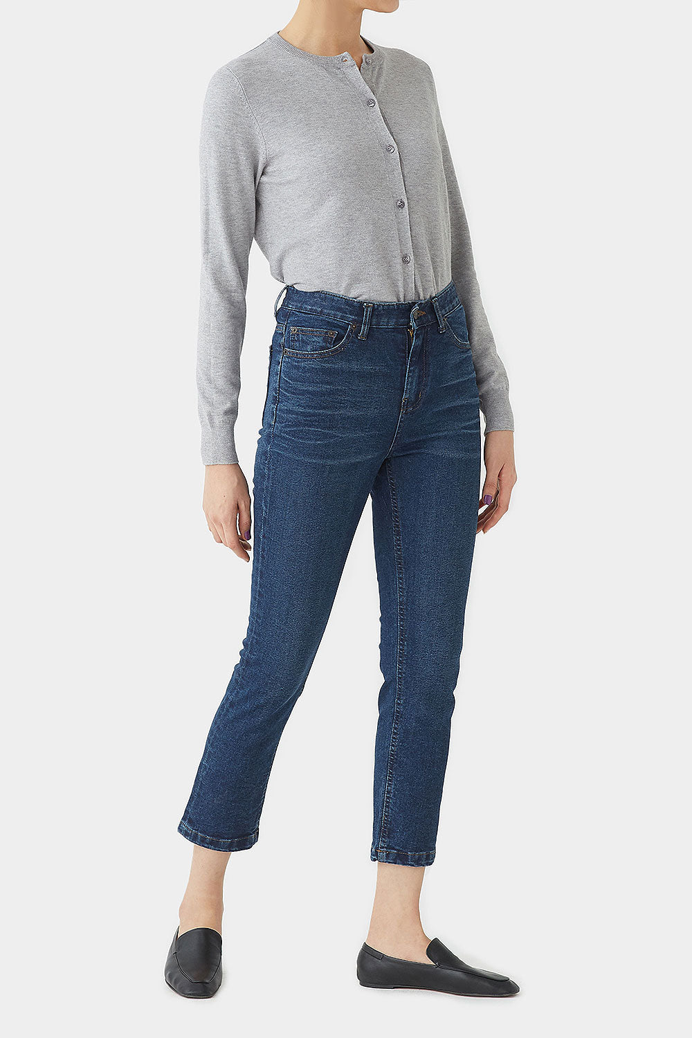 DARK BLUE JAMIE KICK FLARE DENIM
