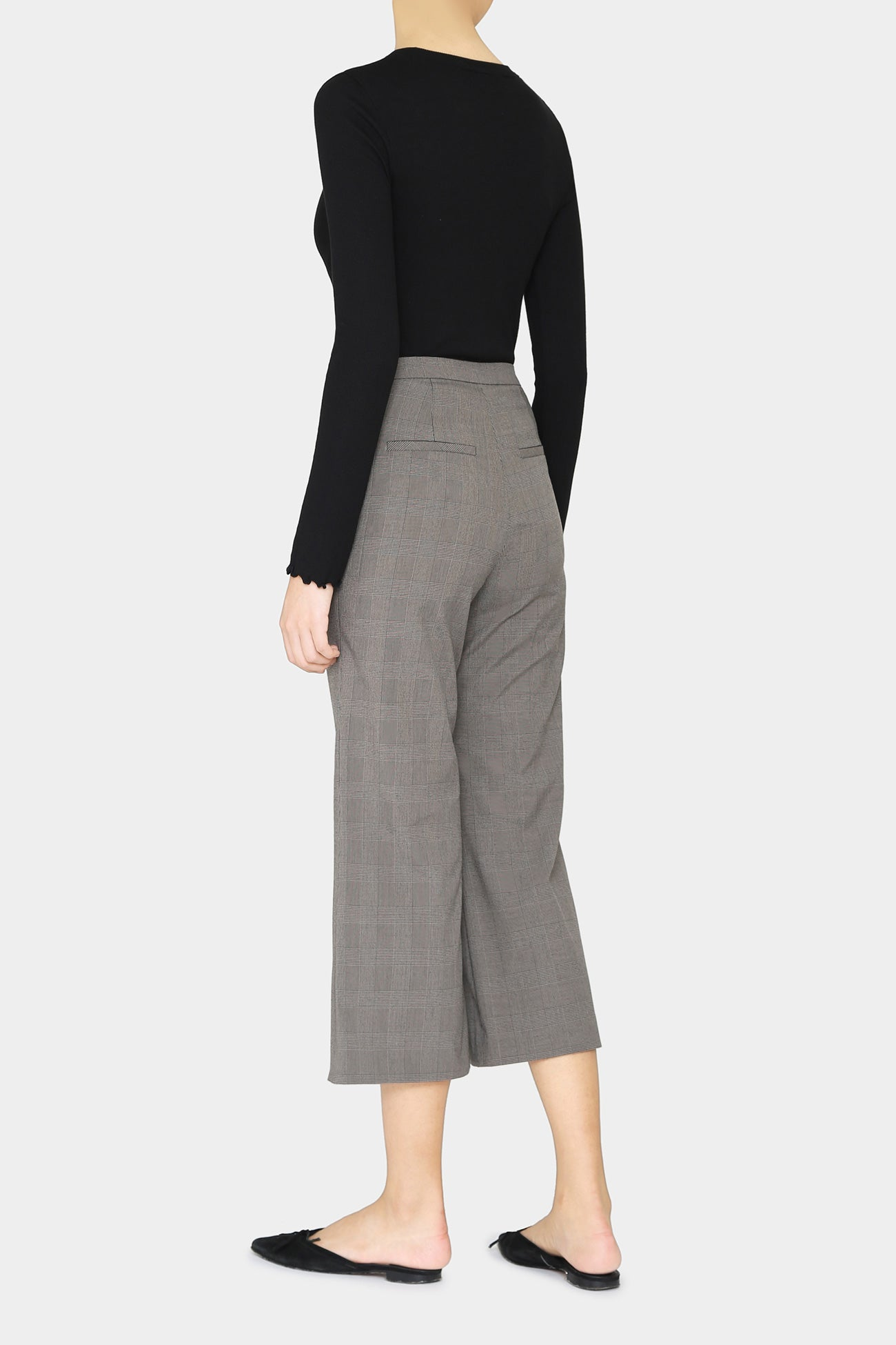 PLAID IVY FLARE PANTS